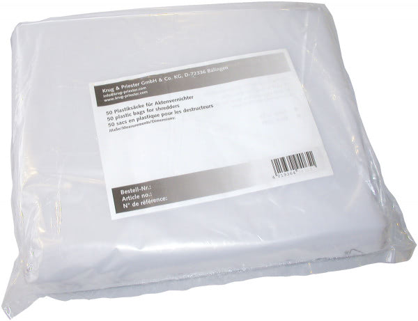 Plastic bag for the shredder model 3803 (Packing: 50 pieces)