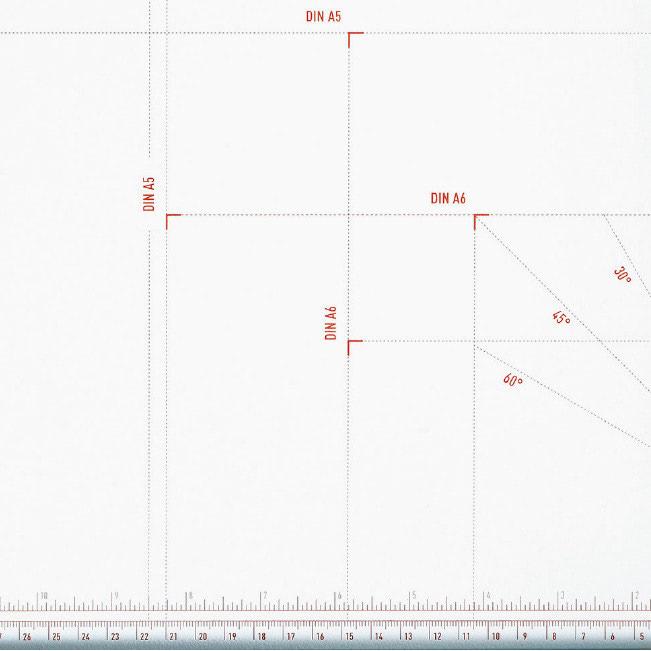 Hebelschneider IDEAL 1110 Formateinteilung